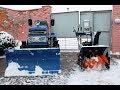 Минитрактор в паре со снегоуборщиком mp3