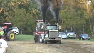 Choas Frabrication Washington Pa Test and Tune Truck Pull V-8 Mack Semi 10-15-16