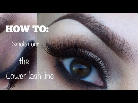 HOW TO: Smoke out the lower lash line