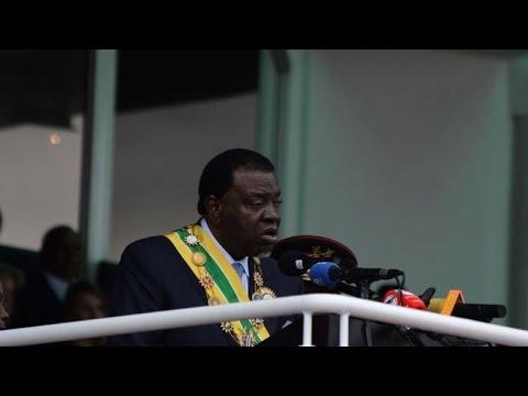 Namibia's new president sworn in after landslide victory