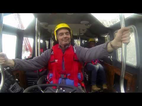 Live (manned) self righting capsize trial Interceptor 48 Pilot Safehaven Marine