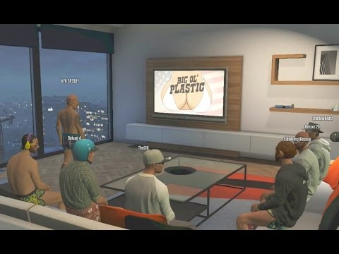 GTA 5 Funny Moments Watching TV With The Crew (GTA Online Funny Moments) Plane Tunnel Stunts