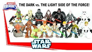 Playskool Star Wars Galactic Heroes The Dark vs Th