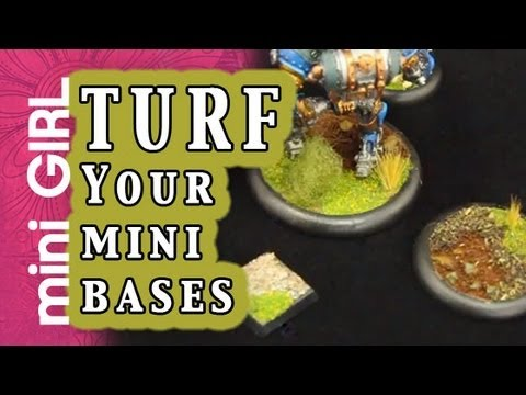 miniGIRL #34: Turf - Fast and Cheap for Your Mini Bases or Terrain - HOT TIP #5