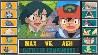 Ash vs. Max (Pokémon Sun/Moon) - Battle of Comanions