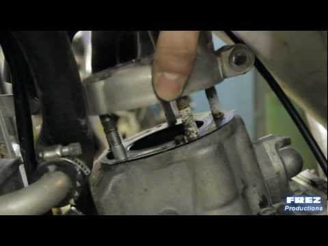 Honda Cr 125 piston / top end rebuild.  A movie produced by Frez Productions