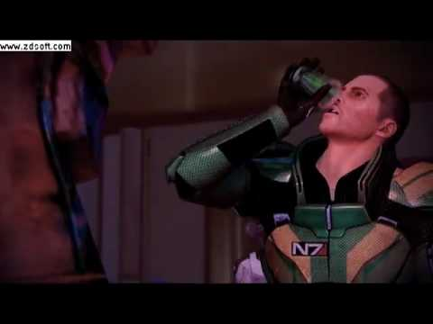 mass effect 2 shepard getting drunk