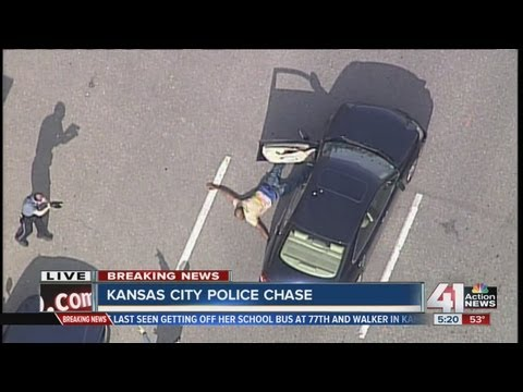 Police chase robbery suspect through streets of Kansas City