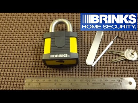 (73) Brinks 50mm Maximum Security Padlock Picked