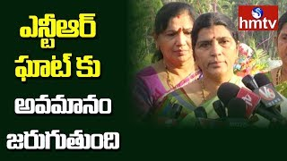 Lakshmi Parvathi Appeal to KCR on NTR Ghat Rehabilitate | hmtv