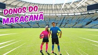 VIRAMOS DONOS DO MAIOR ESTÁDIO DE FUTEBOL DO BRASIL! (MARACANÃ) - KIDS FUN