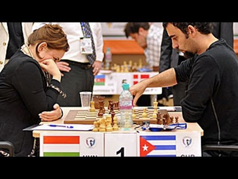 Judit Polgar defeats GM Lenier Dominguez in Blitz -  FIDE World Chess Cup 2011