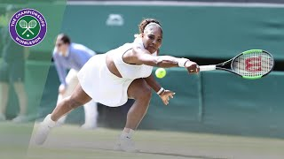 Serena Williams vs Barbora Strycova Wimbledon 2019 semi-final highlights