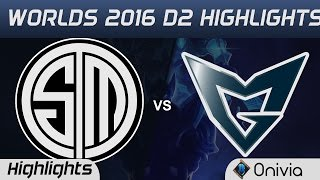 TSM vs SSG Highlights Worlds 2016 D2 Team Solo Mid vs Samsung Galaxy