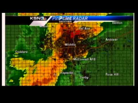 May 19 Wichita Tornado Coverage - KSN Staff Takes Shelter (Full Video)