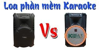 So Sánh Chất Lượng Âm Thanh 2 Dòng Loa Phần Mềm Karaoke - Acnos KB39U với Calina TN15 Plus
