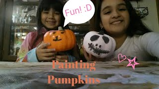 Painting Pumpkins!🎃 (with Jeanelly The Queen)