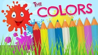 The COLORS in English for kids - Vocabulary in English and Spanish