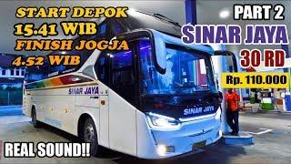 DEPOK - JOGJA 12 JAM !! Naik Bus Sinar Jaya 30 RD Legacy SR 2 HD Prime