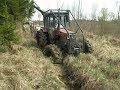 Belarus Mtz 1025.2 forestry tractor stuck