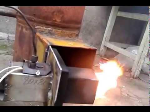 котел с горелкой на отработке масле печном топливе!