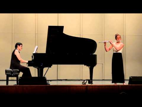 2015 05 07 Katie Willig age 15 performing Troisieme Sonata by Phillippe Gaubert-Young Artist Finals