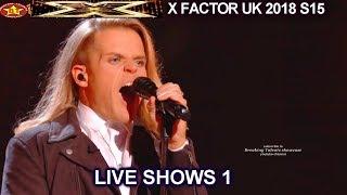 "Giovanni Spano ""Saturday Night's Alright For Fighting"" BRILLIANT  | Live Shows 1 X Factor UK 2018"