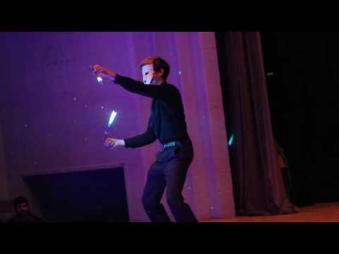 Matt Scientist performs at SpinCo Student & Teacher Showcase for World Hoop Day 2015