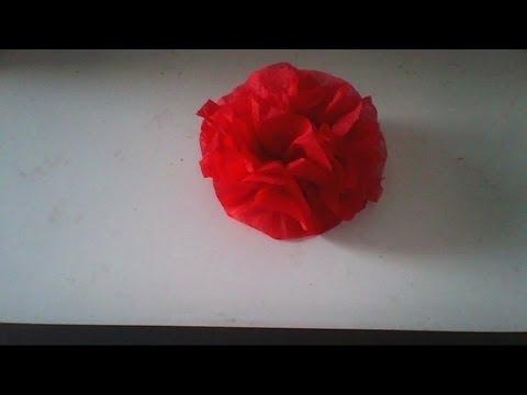 Servettvikning - Hur man viker en ros