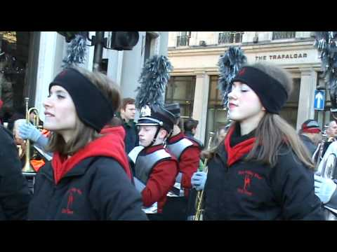 New Years Day Parade 2010 in London - Blue Valley West High School Marching Band