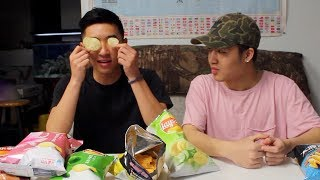 WEIRDEST LAYS POTATO CHIP FLAVORS || TASTE TEST