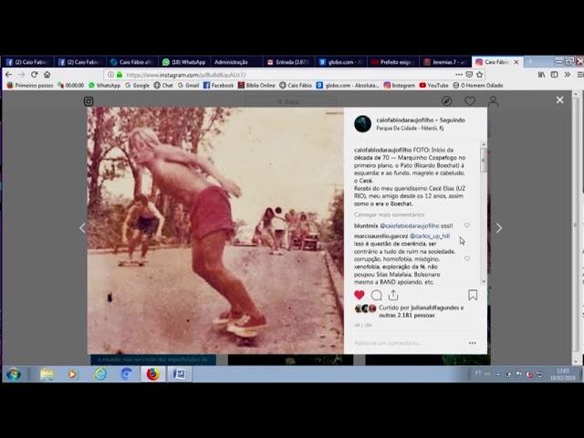 Ricardo Boechat andando de Skate em 1969. Uma foto que representa a história