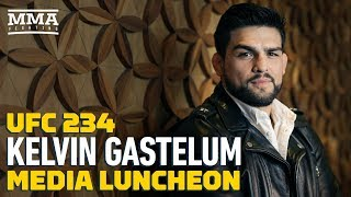 UFC 234: Kelvin Gastelum Media Lunch Scrum - MMA Fighting