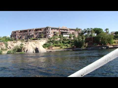 Small motor boat cruise on the Nile in Aswan, Egypt