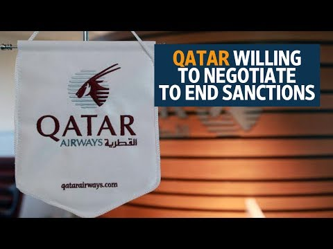 Qatar willing to negotiate to end sanctions from Gulf states