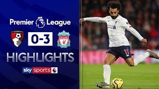 Salah on target as Liverpool go 11 points clear! | Bournemouth 0-3 Liverpool | EPL Highlights