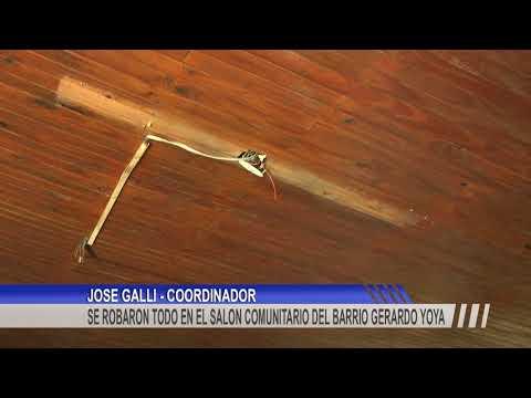 Delincuentes desvalijaron el Salón Comunitario del barrio Gerardo Yoya
