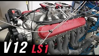 V12 LS1 engine dyno