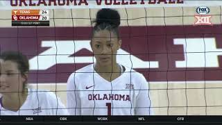 Texas at Oklahoma Women's Volleyball Highlights