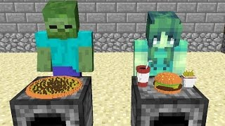 Monster School: Girls vs Boys Cooking Challenge - Minecraft Animation