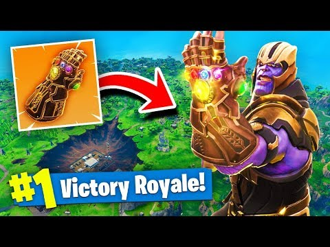 *NEW* THANOS INFINITY GAUNTLET GAMEPLAY In Fortnite Battle Royale