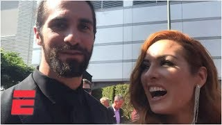 Seth Rollins calls Jon Jones a chump, Becky Lynch talks Ronda Rousey, MMA | 2019 ESPYS Red Carpet