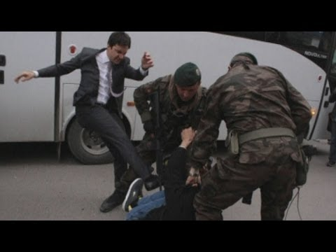 Aide to Turkish Prime Minister pictured kicking Soma mine disaster mourner