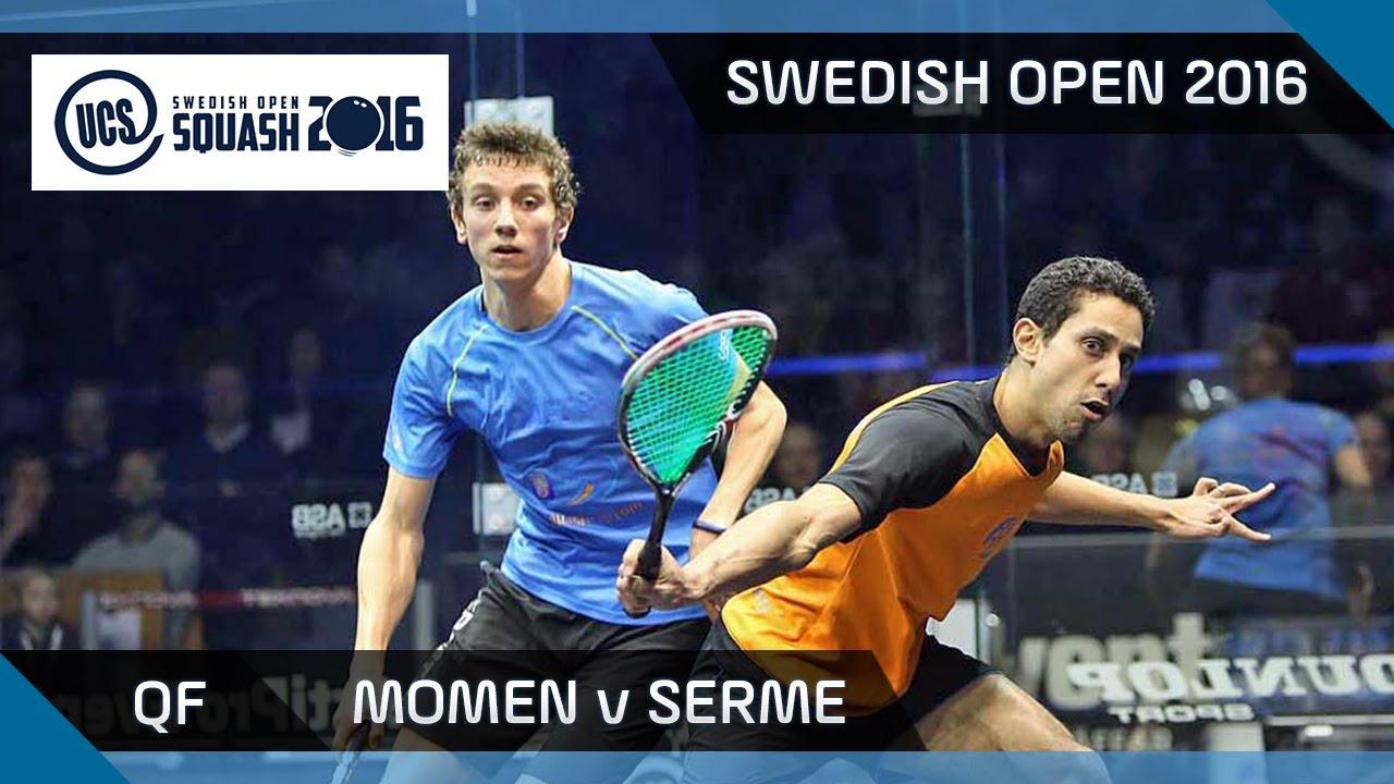 Squash: Momen v Serme - UCS Swedish Open 2016 - QF Highlights
