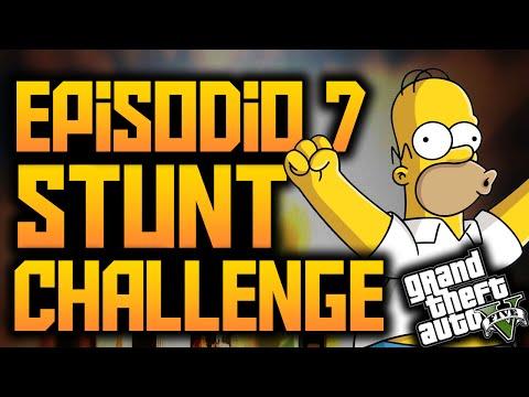 GTA V Online - Desafío Acrobático #7 - Increíble Salto Muy Dificil!! - Stunt Challenge - GTA 5
