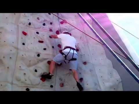 Rock Climbing on Royal Caribbean's Independence of the Seas