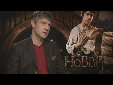 Hobbit star Martin Freeman, who plays Bilbo Baggins, talks global fame