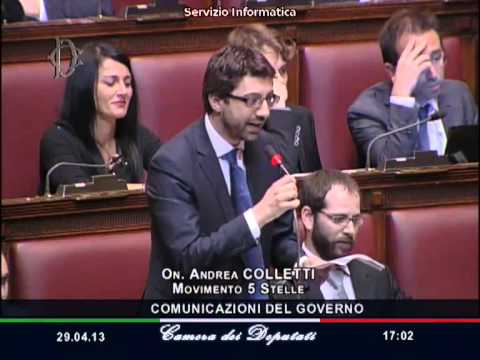 Andrea Colletti M5S Attacca Letta e Alfano – Bagarre in Parlamento alla Camera – Video