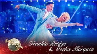 Frankie Bridge and Gorka Marquez American Smooth Foxtrot to 'Let It Go' from Frozen - Strictly 2016