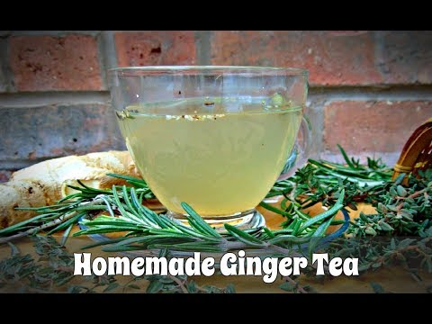 Homemade Ginger Tea Recipe - Super Healthy and Very Tasty!